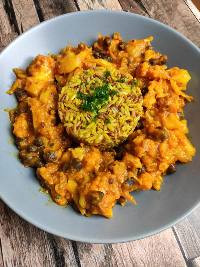 "Indisches Blumenkohl-Curry ""Aloo Gobi"""